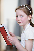 Emma Mulry, rang a 2 , Scoil na hEaglaise with her book Oiche Samhna and was presented with a medal for her prize-winning original story at this year's Write a Book / Scríobh Leabhair competition, run by Galway Education Centre, in the Radisson blu Hotel.  Photo:Andrew Downes