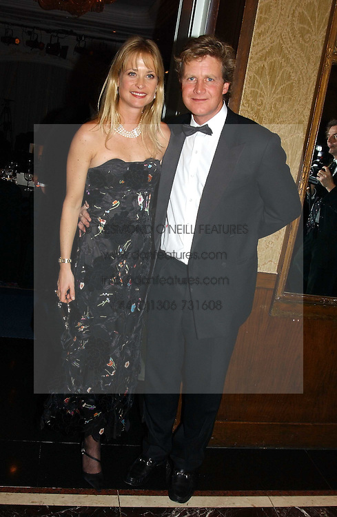 BEN and LUCY SANGSTER at the 2004 Cartier Racing Awards in association with the Daily Telegraph, held at the Four Seasons Hotel, London on 17th November 2004.<br />