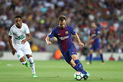 August 7, 2017 - Barcelona, Spain - Ivan Rakitic of FC Barcelona during the 2017 Joan Gamper Trophy football match between FC Barcelona and Chapecoense on August 7, 2017 at Camp Nou stadium in Barcelona, Spain. (Credit Image: © Manuel Blondeau via ZUMA Wire)