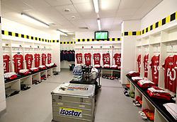 Bristol City changing room at Burton Albion - Mandatory by-line: Robbie Stephenson/JMP - 10/03/2018 - FOOTBALL - Pirelli Stadium - Burton upon Trent, England - Burton Albion v Bristol City - Sky Bet Championship
