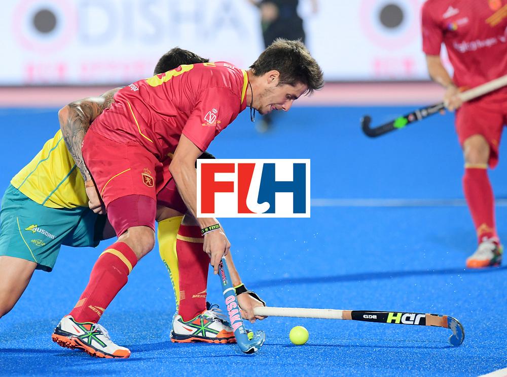 Odisha Men's Hockey World League Final Bhubaneswar 2017<br /> Match id:15<br /> Spain v Australia<br /> Foto: Josep Romeu (Esp) <br /> COPYRIGHT WORLDSPORTPICS FRANK UIJLENBROEK