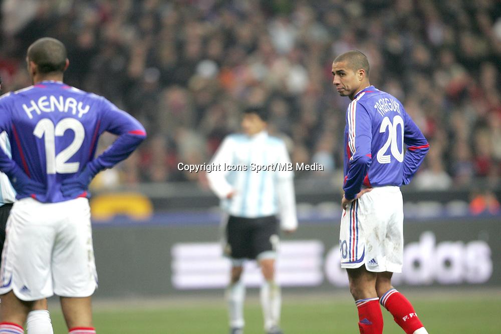 Thierry HENRY / David TREZEGUET - 07.02.2007 - France / Argentine - Match amical - Stade de France - Saint Denis<br />Photo: Nolwenn Le Gouic / Icon Sport