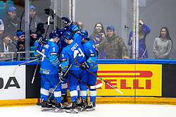 Players of Kazakhstan celebrate during ice hockey match between South Korea and Kazakhstan at IIHF World Championship DIV. I Group A Kazakhstan 2019, on May 2, 2019 in Barys Arena, Nur-Sultan, Kazakhstan. Photo by Matic Klansek Velej / Sportida