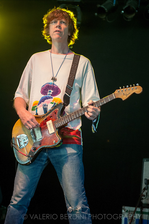 Thurston Moore on stage at Field Day Festival in London on 7 June 2014