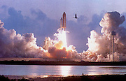 Fla: The Shuttle Endeavour lifts off on its maiden voyage late 07 May 1992 carrying a crew of seven.