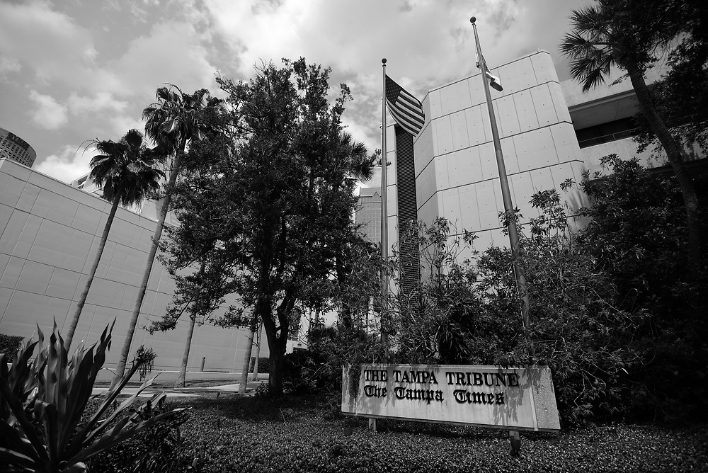 The exterior of The Tampa Tribune is seen on Tuesday, May 3, 2016 just prior to the announcement that the rival Tampa Bay Times has purchased the paper Tuesday, May 3, 2016. CHRIS URSO/STAFF