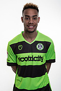 Forest Green Rovers Junior Mondal(25) at Stanley Park, Chippenham, United Kingdom on 14 January 2019.