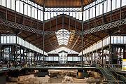 Mercat del Born Cultural Center with ruins 18th Century ruins. Barcelona | Architect:  Antoni Rovira i Trias