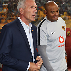 Ernst Middendorp (Head Coach) of Kaizer Chiefs with Shaun Bartlett (Assistant Coach) of Kaizer Chiefs