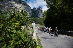 Ruth Winder (USA) leads the bunch at Tour Cycliste Féminin International de l'Ardèche 2018 - Stage 6, a 113.7km road race from Savasse to Montboucher sur Jabron, France on September 17, 2018. Photo by Sean Robinson/velofocus.com