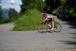 Emma Pooley (Lotto Soudal) on the descent at Giro Rosa 2016 - Stage 5. A 77.5 km road race from Grosio to Tirano, Italy on July 6th 2016.