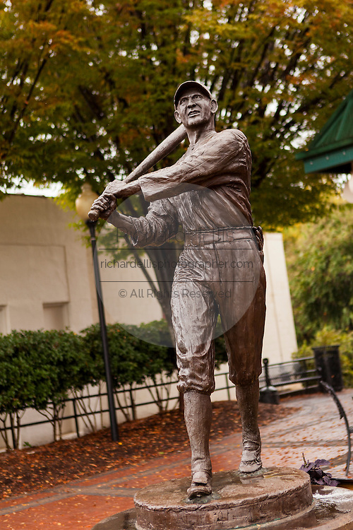 Park and statue dedicated to infamous American baseball player Shoeless Joe Jackson in Greenville, Sout Carolina.