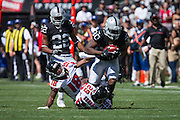Oakland Raiders defensive back SaQwan Edwards (30) carries the ball against the Atlanta Falcons at Oakland Coliseum in Oakland, Calif., on September 18, 2016. (Stan Olszewski/Special to S.F. Examiner)
