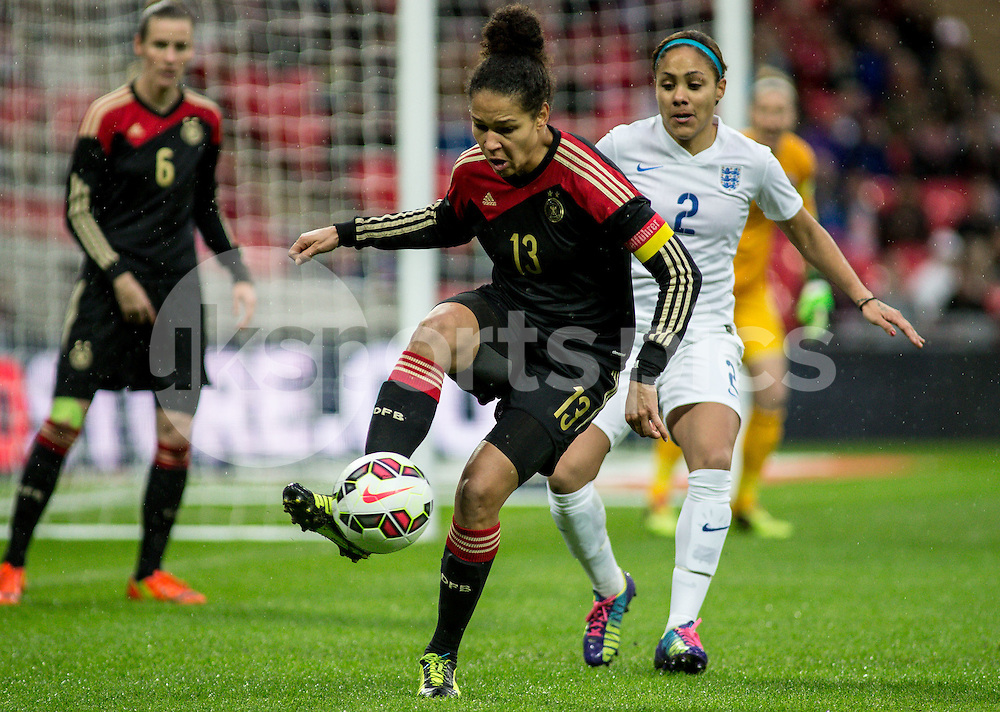 Celia Šašić of Germany  during the Women's International Friendly match between England and Germany at Wembley Stadium, London, England on 23 November 2014. Photo by Liam McAvoy.
