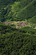 Village at Fuente De valley, Picos de Europa National Park, Cantabria, Spain