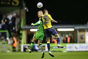Forest Green Rovers Nathan McGinley(19) and Coventry City's Tennai Watson(2) during the Leasing.com EFL Trophy match between Forest Green Rovers and Coventry City at the New Lawn, Forest Green, United Kingdom on 8 October 2019.