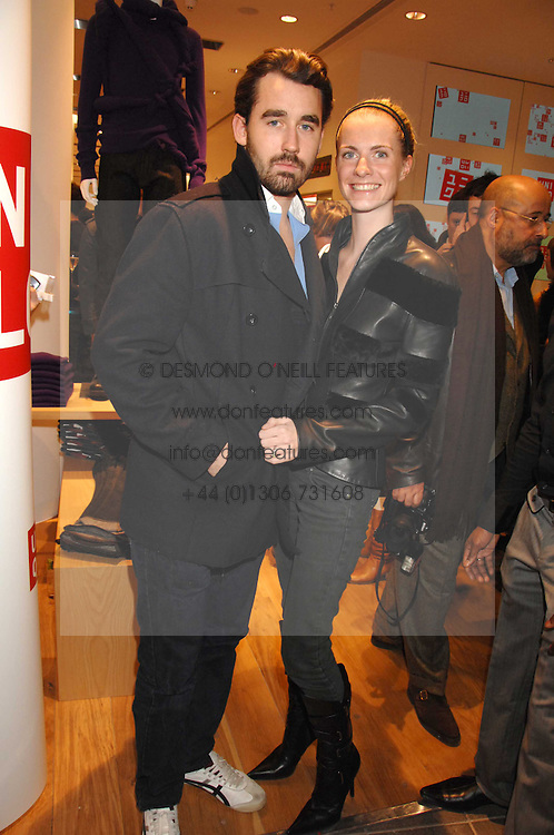 LOUIS &amp; CHLOE BUCKWORTH at a party to celebrate the opening of the new Uniqlo store at 331 Oxford Street, London W1 on 6th November 2007.<br />
