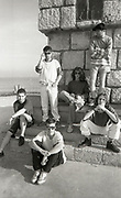 Happy Mondays 'Step On' promotional music video shoot, Sitges, Spain, 1990