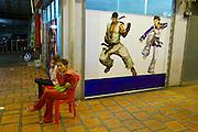 Phnom Penh, Cambodia. Nightlife at Golden Sorya Mall, Street 51 (Pasteur).