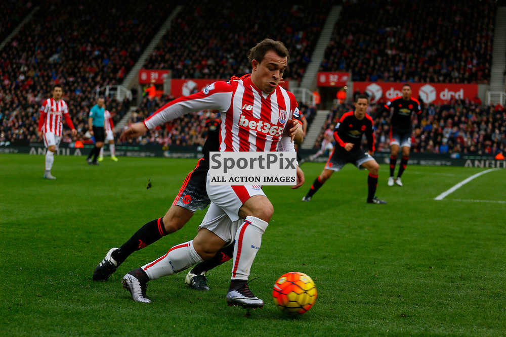 Xherdan Shaqiri during Stoke City v Manchester United, Barclays Premier League, Saturday 26th December 2015, Britannia Stadium, Stoke