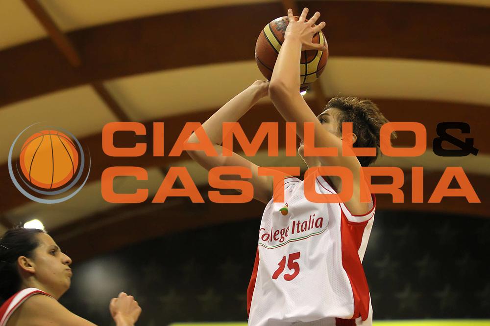 DESCRIZIONE : Roma Basket Campionato Italiano Femminile serie B<br /> 2011-2012<br /> GIOCATORE : Elisa Penna<br /> SQUADRA : College Italia<br /> EVENTO : College Italia 2011-2012<br /> GARA : College Italia Santa Marinella<br /> DATA : 04/12/2011<br /> CATEGORIA : tiro<br /> SPORT : Pallacanestro <br /> AUTORE : Agenzia Ciamillo-Castoria/ElioCastoria<br /> Galleria : Fip Nazionali 2011<br /> Fotonotizia : Roma Basket Campionato<br /> Italiano Femminile serie B 2011-2012<br /> Predefinita :