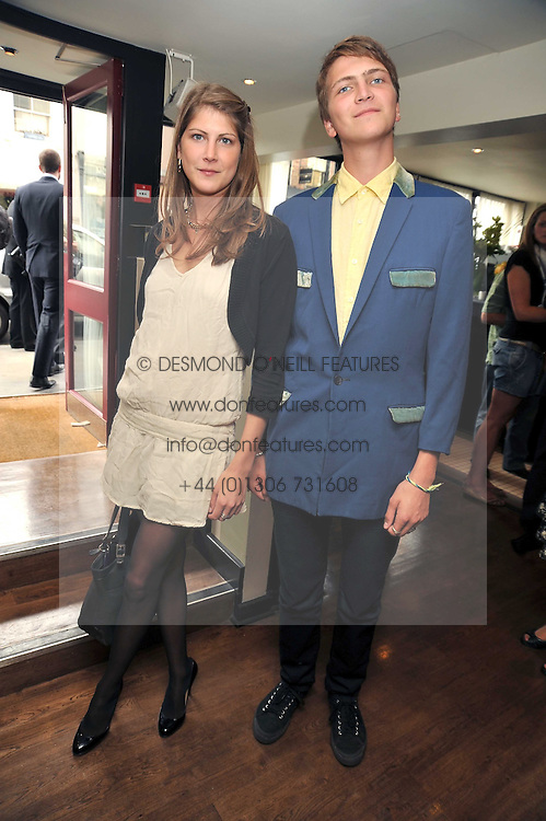 Left to right, PRINCESS FLORENCE VON PREUSSEN and her brother PRINCE FRITZI VON PREUSSENat 'Fin's Fiesta' a party to celebrate the success of Fin's loafers held at Tini's Cocktail Bar, 87-89 Walton Street, London SW3 on 24th June 2009.