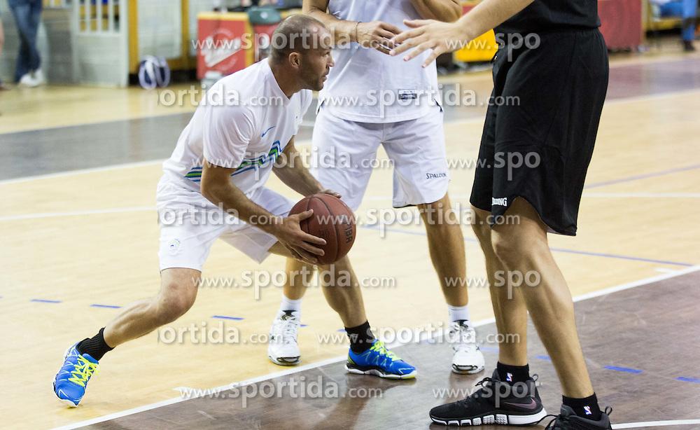 Dejan Zavec vs Raso Nesterovic during football and basketball charity event All Legends by Olimpiki, on June 9, 2015 in Hala Tivoli, Ljubljana, Slovenia. Photo by Vid Ponikvar / Sportida