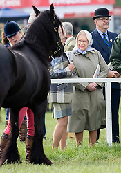 WINDSOR - UK  - 13th May 2016: <br /> The Royal Windsor Horse Show held in Windsor Great Park and Home Park. HM Queen Elizabeth watches her horses compete.<br /> Photograph by  Ian Jones
