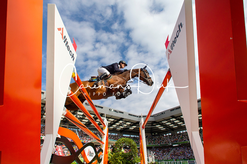 Alexander Zetterman, (SWE), Cafino - World Champions, - Second Round Team Competition - Alltech FEI World Equestrian Games™ 2014 - Normandy, France.<br /> © Hippo Foto Team - Leanjo De Koster<br /> 25/06/14