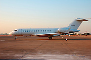 Israel, Ben Gurion International airport private jet aeroplane on the tarmac