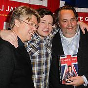 NLD/Amsterdam/20120221 - Boekpresentatie Jamie Oliver, samen met Robert Kranenborg en Julius Jaspers