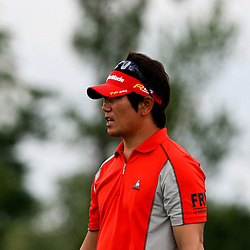 2009 April 26: Y.E. Yang of Jeju Island South Korea on the 18th hole during the final round of the Zurich Classic of New Orleans PGA Tour golf tournament played at TPC Louisiana in Avondale, Louisiana.Yang on August 16, 2009 became the first Asian born PGA Player to win a major with his win in the PGA Championship in Chaska, Minnesota.