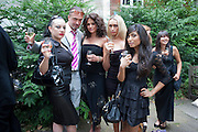 MISTRESS ABSOLUTE; BEWSHER; EMS; TUFF KOOKI; NATASHA, Sebastian Horsley funeral. St. James's church. St. James. London afterwards in the church garden. July 1 2010. -DO NOT ARCHIVE-© Copyright Photograph by Dafydd Jones. 248 Clapham Rd. London SW9 0PZ. Tel 0207 820 0771. www.dafjones.com.