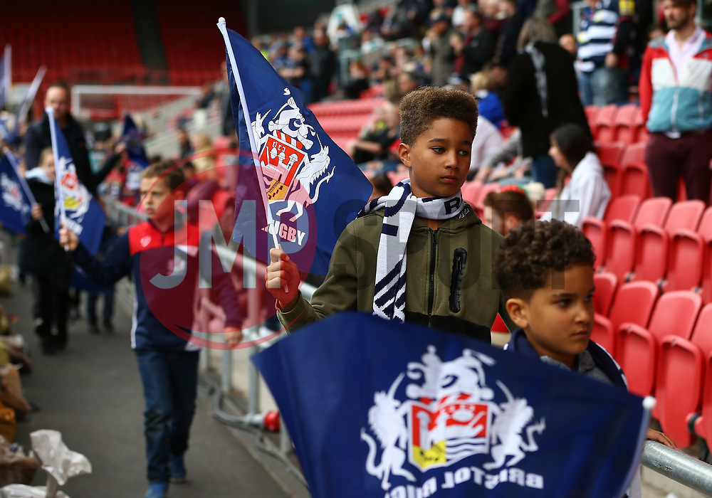 Flag bearers - Mandatory by-line: Gary Day/JMP - 06/05/2017 - RUGBY - Ashton Gate - Bristol, England - Bristol Rugby v Newcastle Falcons - Aviva Premiership