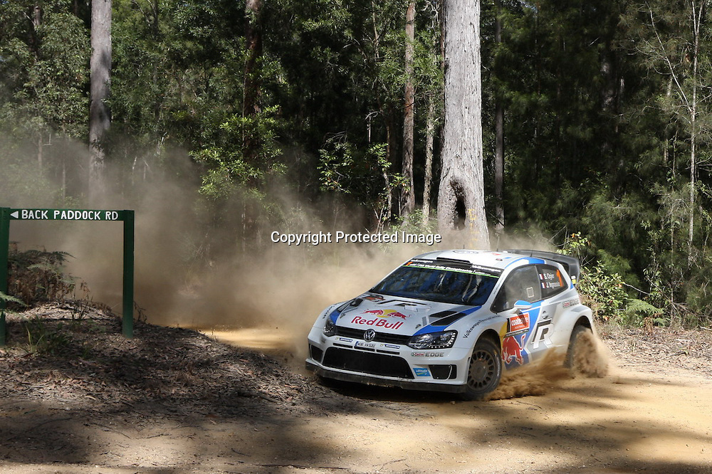 Sebastien Ogier (FR) SS 3. Rally Australia - Round 10 of the FIA World Rally Championship, Day 1, 12 September 2014. Photo: Alan McDonald/www.photosport.co.nz