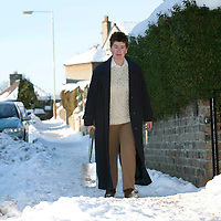 Kinross Snow & Ice....06.01.10<br /> Mary Lockhart from Kinross who is appealing for people to help in clearing pavements of snow and ice<br /> Picture by Graeme Hart.<br /> Copyright Perthshire Picture Agency<br /> Tel: 01738 623350  Mobile: 07990 594431