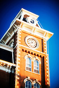 FAYETTEVILLE, AR;  Old Main building on the campus of the University of Arkansas in Fayetteville, Arkansas