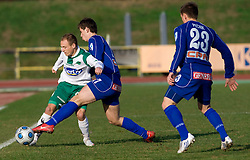 Davor Skerjanc of Olimpija vs Rene Vrabl of Drava at 18th Round of PrvaLiga football match between NK Olimpija and NK Labod Drava, on November 21, 2009, in ZAK, Ljubljana, Slovenia.  (Photo by Vid Ponikvar / Sportida)
