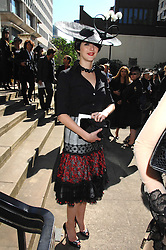 KATIE TURNER at the memorial service of Isabella Blow held at the Guards Chapel, London W1 on 18th September 2007.<br /><br />NON EXCLUSIVE - WORLD RIGHTS