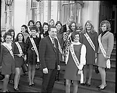 1969 -  Finalists of Miss/Ireland/Miss Europe Competition at the Mansion House, Dublin