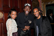 GENEVIEVE JONES, THEOPHILOUS LONDON; JORDAN WATSON, , The Global launch of the 2012 Pirelli Calendar by Mario Sorrenti.  Dinner at the Park Avenue Armory. Manhattan. 6 December 2011.