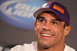 August 4, 2011; Philadelphia, PA; USA; Vitor Belfort at the final press conference for UFC 133 at the Independence Visitors Center.