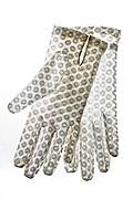 vintage white ornamental holy communion transparent gloves