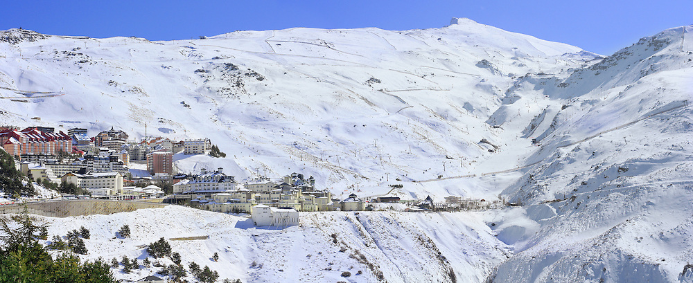 A ski resort in the Sierra Nevada mountains, Granada, Spain