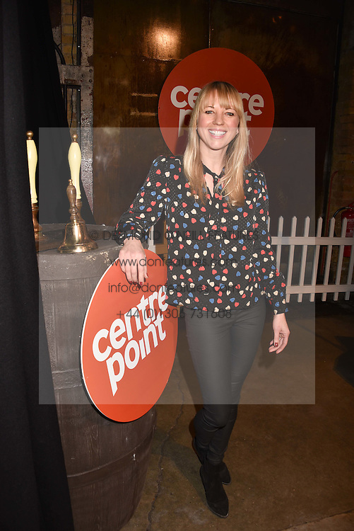 Sara Cox at the Centrepoint Ultimate Pub Quiz, Village Underground, 54 Holywell Lane, London England. 7 February 2017.
