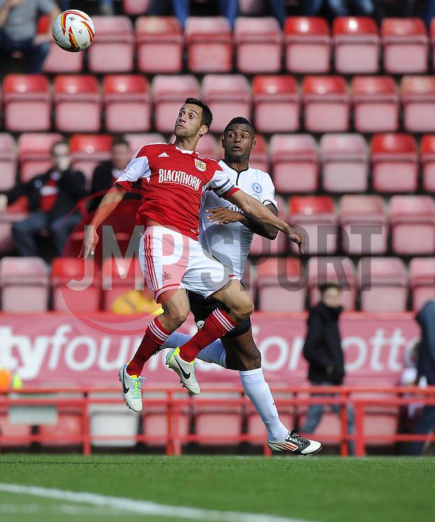 Bristol City's Sam Baldock controls the ball  - Photo mandatory by-line: Joe Meredith/JMP - Tel: Mobile: 07966 386802 14/09/2013 - SPORT - FOOTBALL -  Ashton Gate - Bristol - Bristol City V Peterborough United - Sky Bet League One