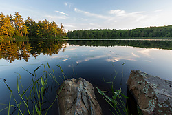Evening light on Page Pond in Meredith, New Hampshire.