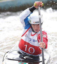 July 1, 2018 - Krakow, Poland - 2018 ICF Canoe Slalom World Cup 2 in Krakow. Day 2. On the picture: CLAIRE JACQUET (Credit Image: © Damian Klamka via ZUMA Wire)