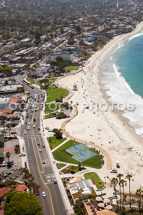Laguna Beach South Facing Aerial Stock Photo