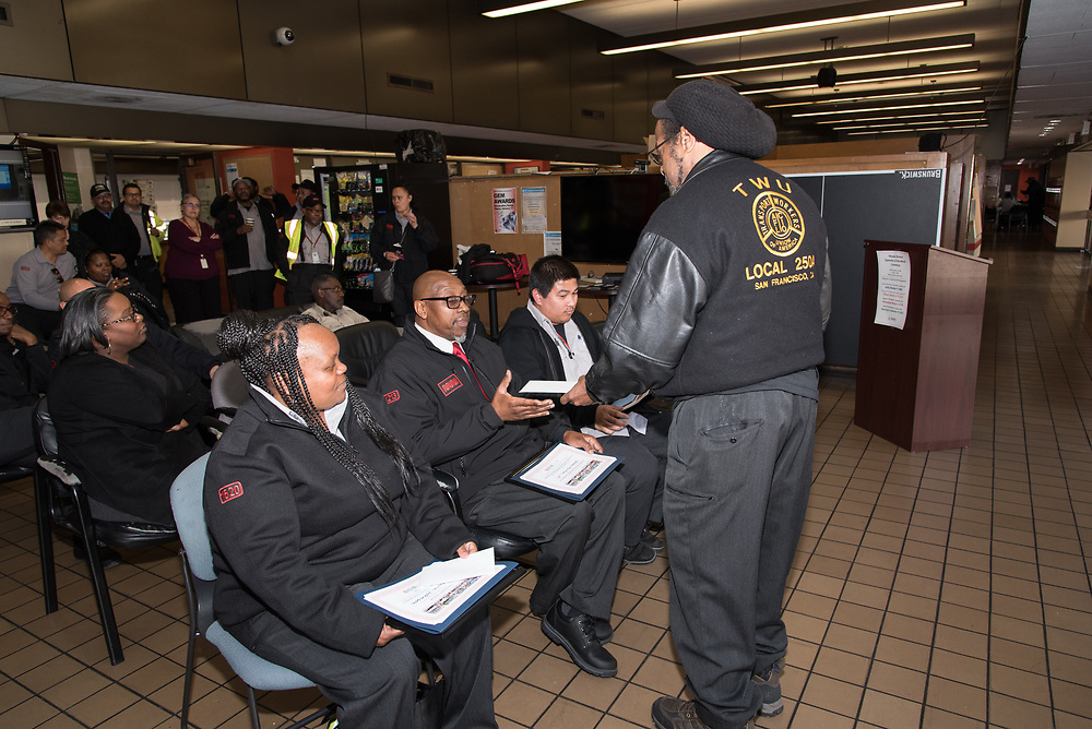 Union Rep Siegfried Henderson Speaking at Woods Division Systemwide Operator of the Month Ceremony | January 12, 2018